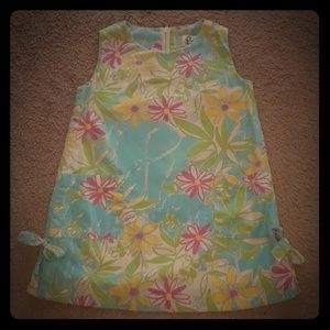 Lilly P 3T Blue elephants w/pink & yellow flowers